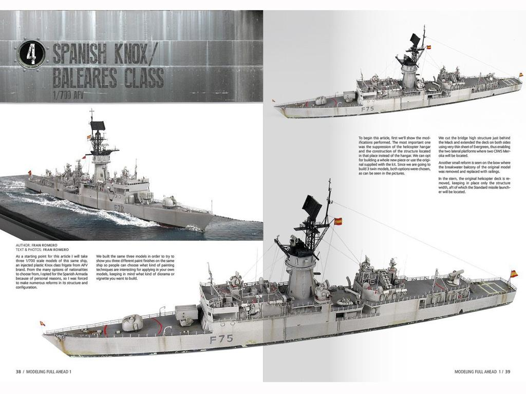 Modelling Full Ahead Knox & Clase Balear (Vista 5)