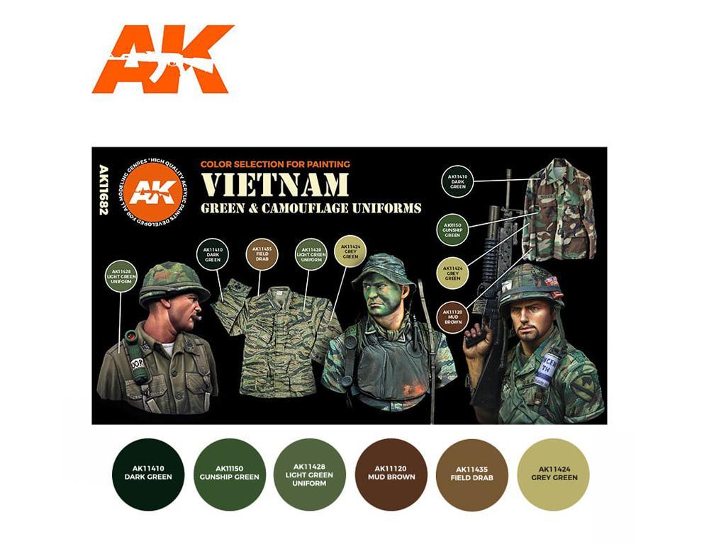 Uniformes verdes y de camuflaje de Vietnam (Vista 2)