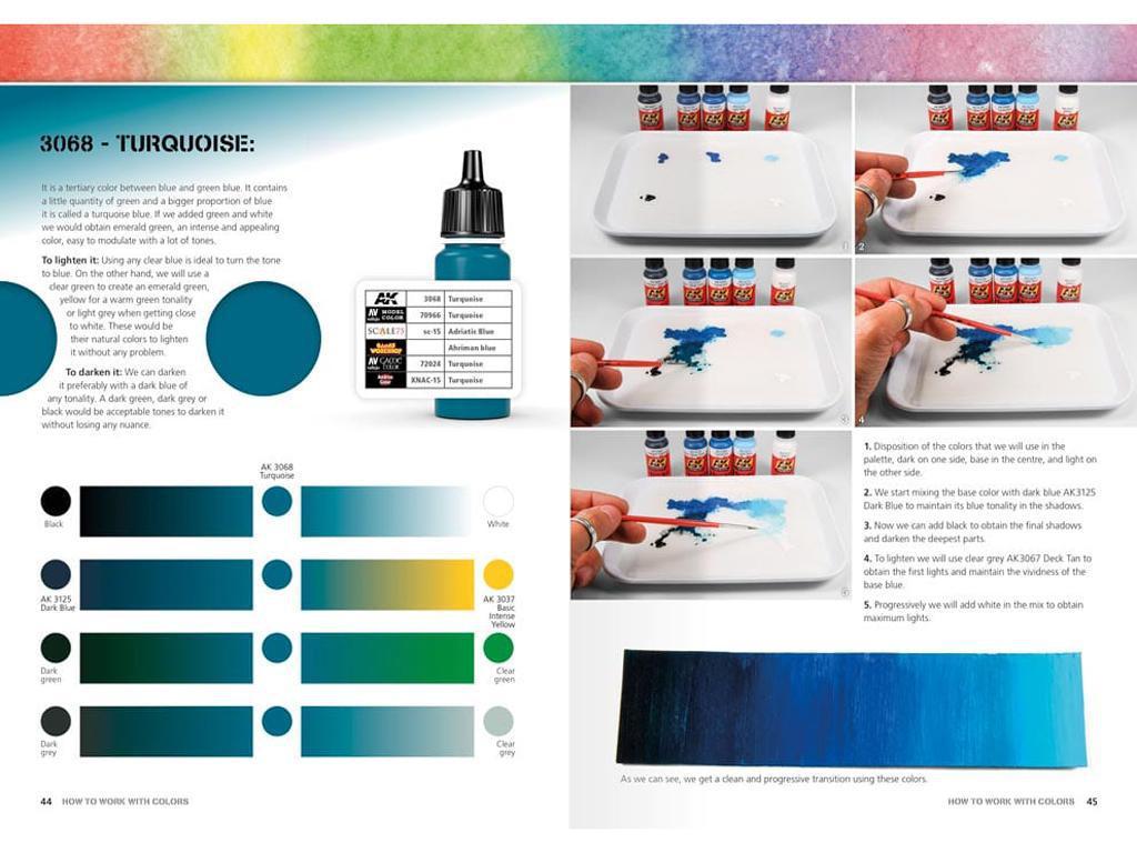 Como Trabajar con Colores y Transiciones con Acrilicos (Vista 5)