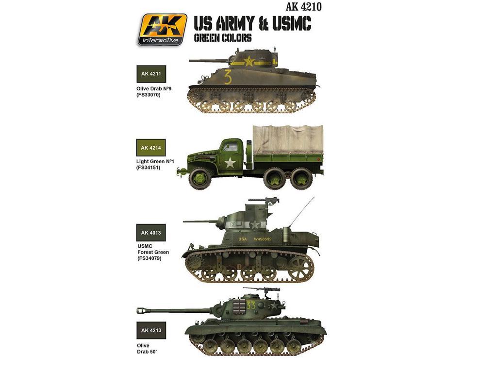 US ARMY & USMC Colores verdes (Vista 2)