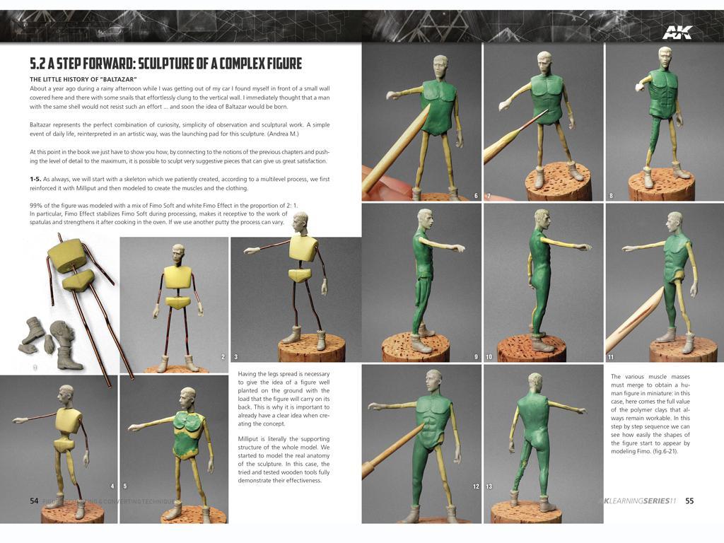 Técnicas de escultura y conversión de figuras (Vista 6)