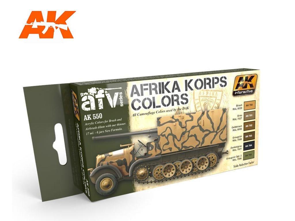 Afrika Korps Color Set (Vista 1)