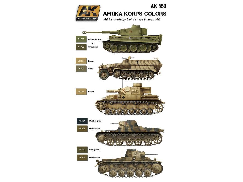 Afrika Korps Color Set (Vista 2)