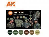 Uniformes verdes y de camuflaje de Vietnam (Vista 4)