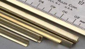 Perfil de laton L - 3,0 x 3,0 x 305 mm.  (Vista 1)