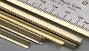Perfil de laton L - 4,0 x 4,0 x 305 mm.  (Vista 1)