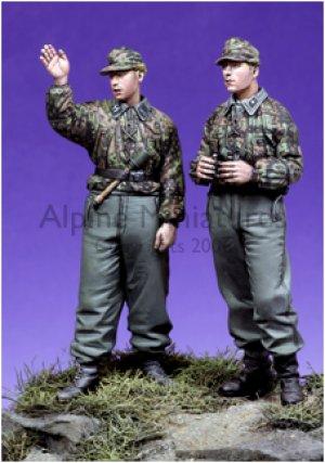 SS panzer Recon Crew Set / 2 Figures & 4  (Vista 3)