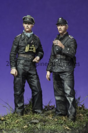 Late War WSS Panzer NCO Set (2 Figs)  (Vista 1)