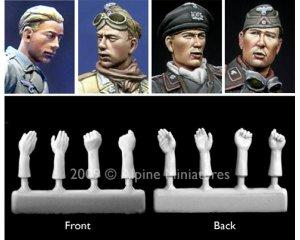 Set cabezas y manos tripulación alemana   (Vista 1)