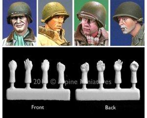 Set cabezas con casco y manos USA.  (Vista 1)