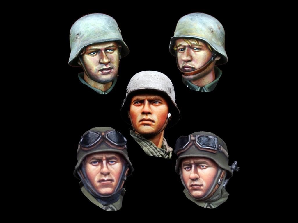 Infantería Alemana , Set de Cabezas (Vista 1)