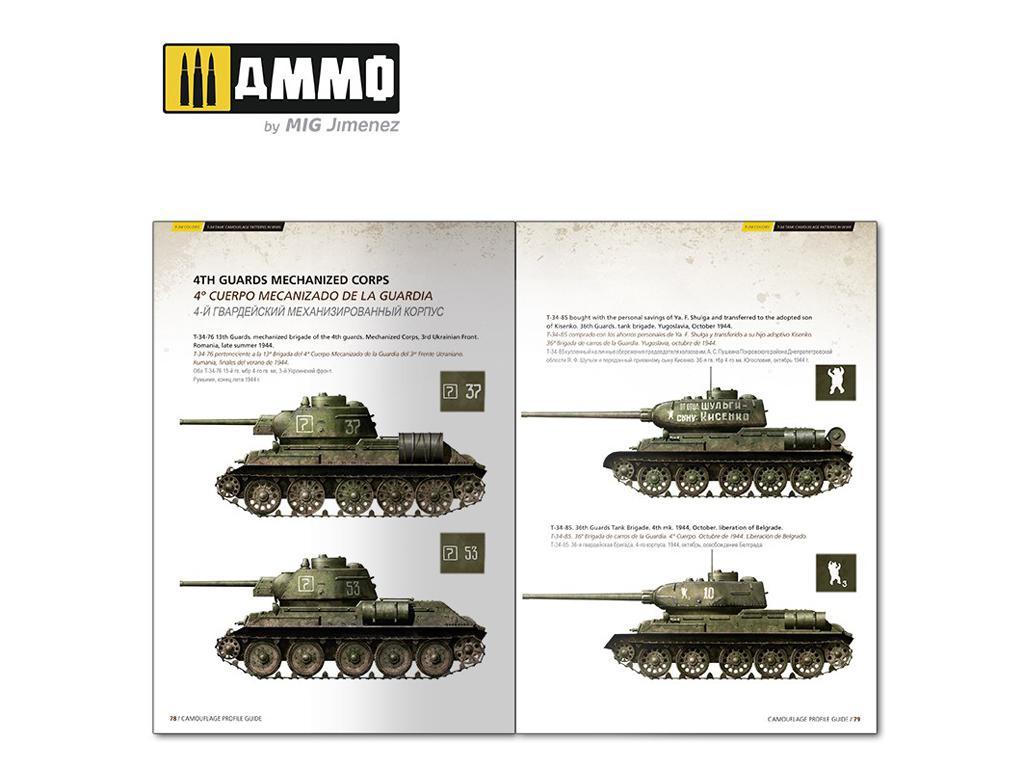 T-34 Colors. Camuflajes de los T-34 durante la 2ª GM (Vista 2)