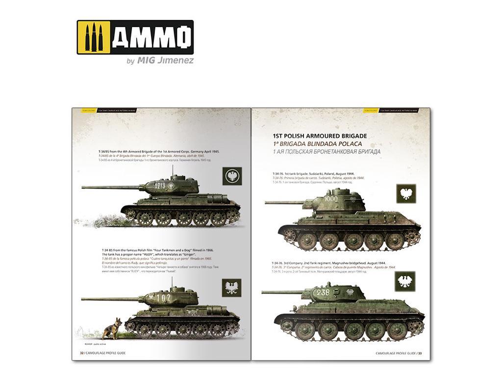T-34 Colors. Camuflajes de los T-34 durante la 2ª GM (Vista 6)