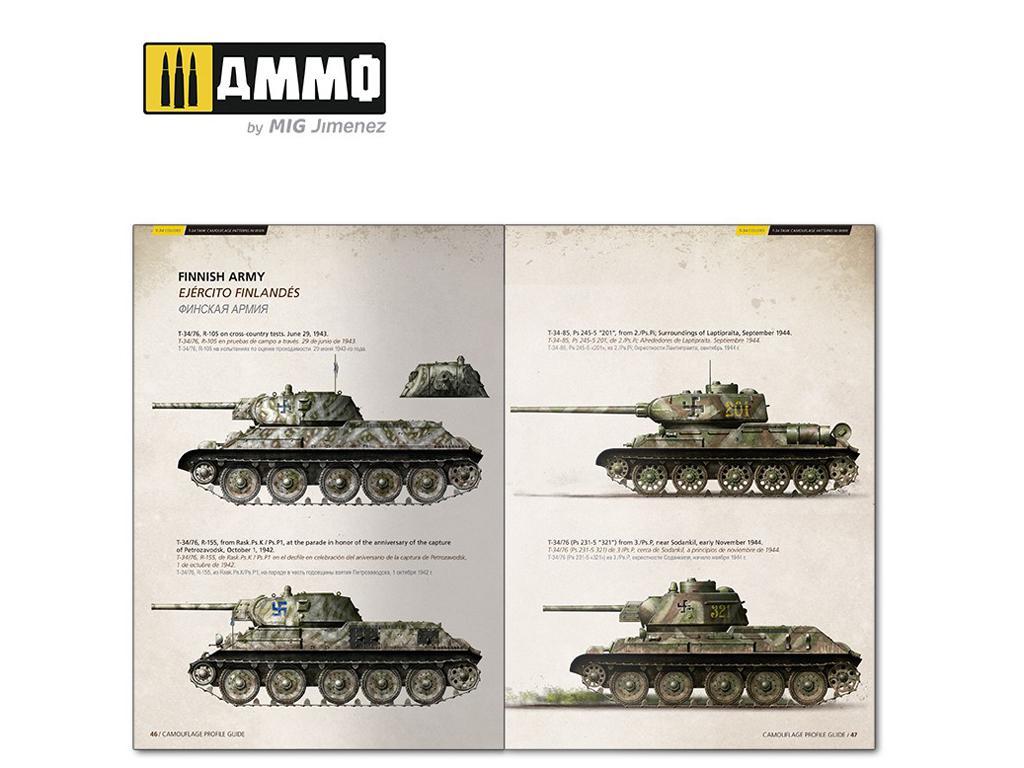 T-34 Colors. Camuflajes de los T-34 durante la 2ª GM (Vista 9)