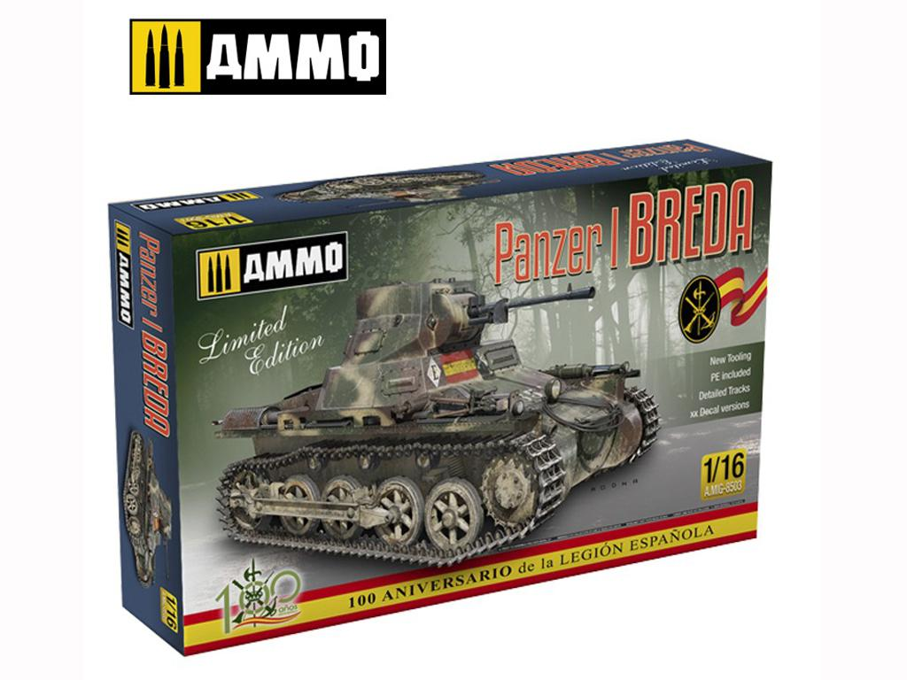 Panzer I Ausf. A Breda, tanque ligero de la Guerra Civil Española (Vista 1)