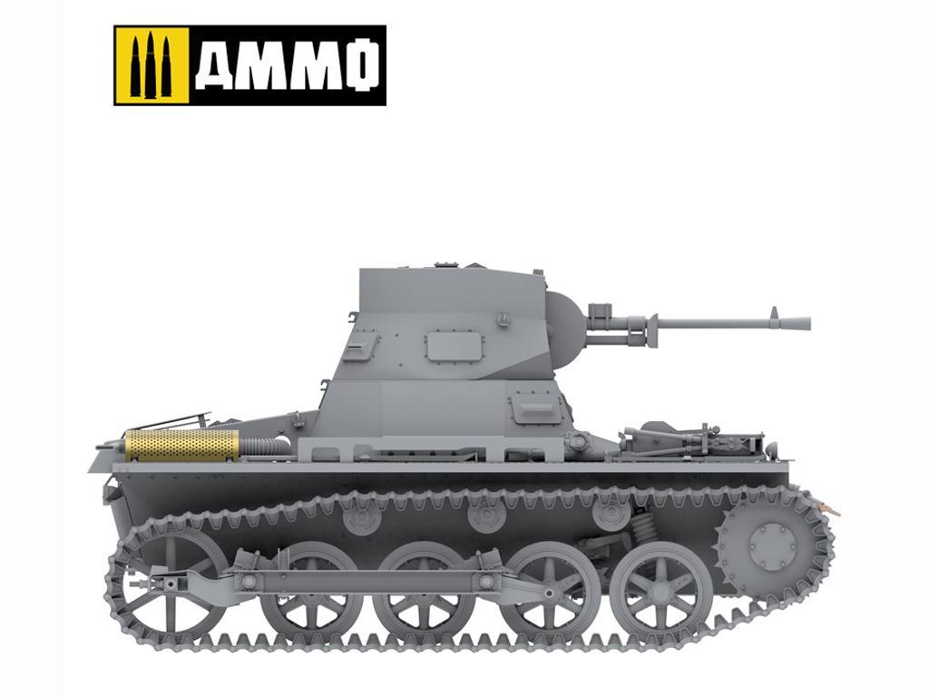 Panzer I Ausf. A Breda, tanque ligero de la Guerra Civil Española (Vista 18)