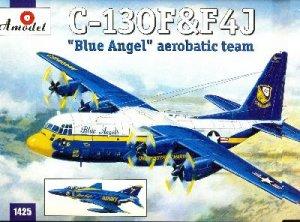 C-130 & F4J Blue Angel  (Vista 1)