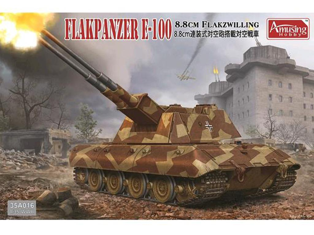German 8,8cm Zwilling  Flakpanzer E100 - Ref.: AMUS-35A016
