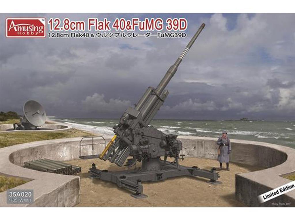 12,8cm Flak40 con FuMG 39D (Vista 1)
