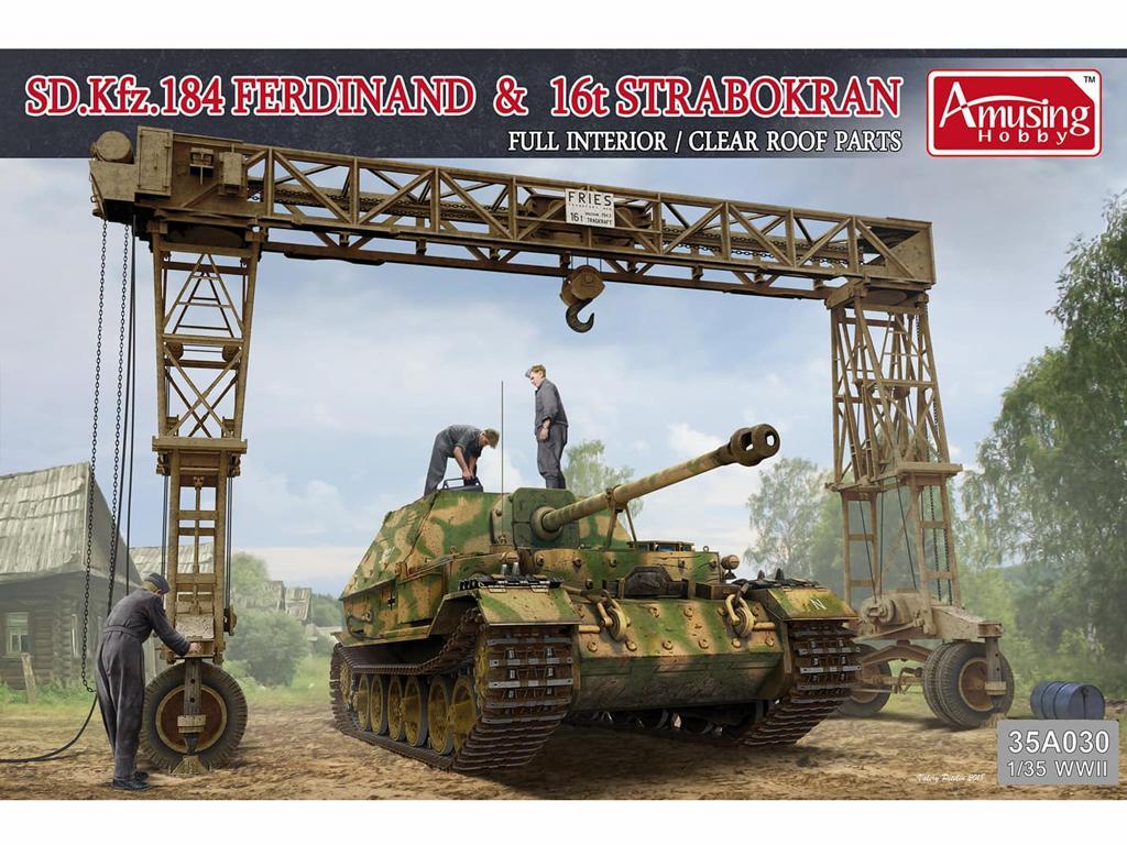 SD.Kfz.184 Ferdinand & 16t Strabokran (Vista 1)