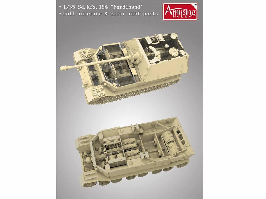 SD.Kfz.184 Ferdinand & 16t Strabokran (Vista 4)