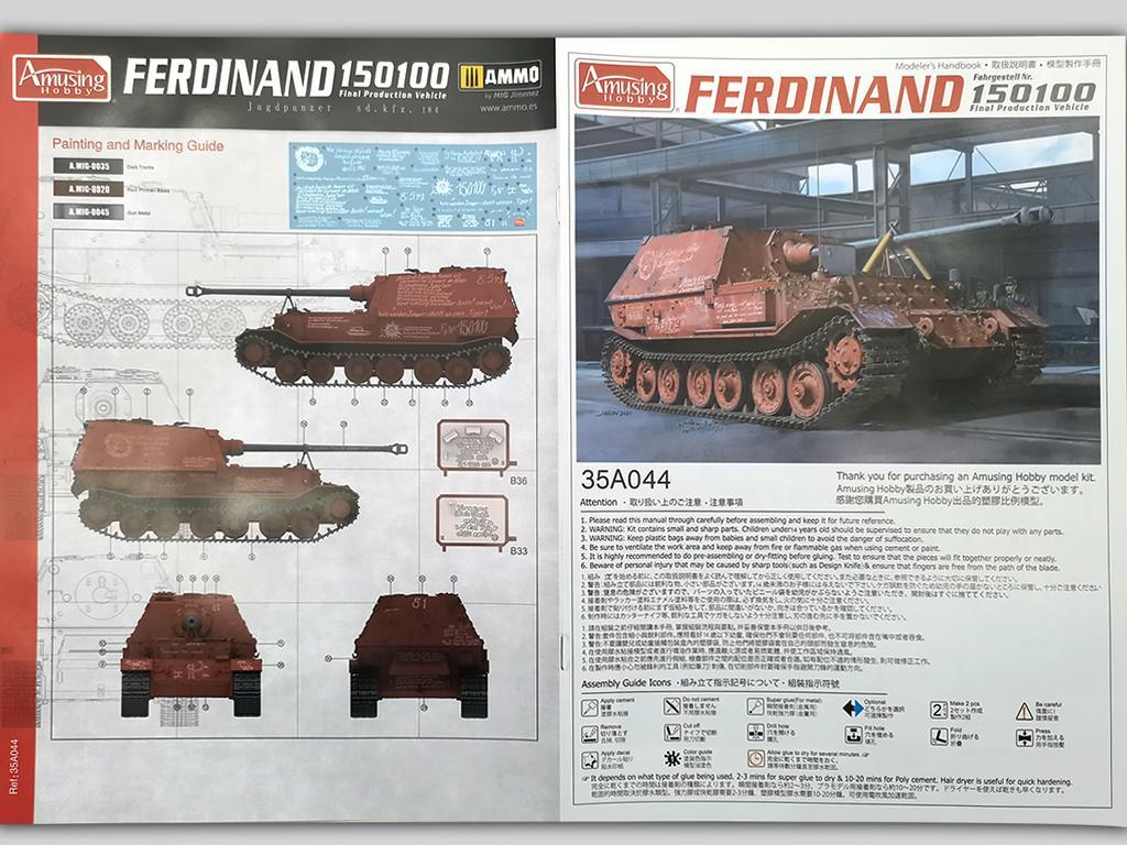 Ferdinand Jagdpanzer Sd.kfz.184 No 15100 (Vista 2)