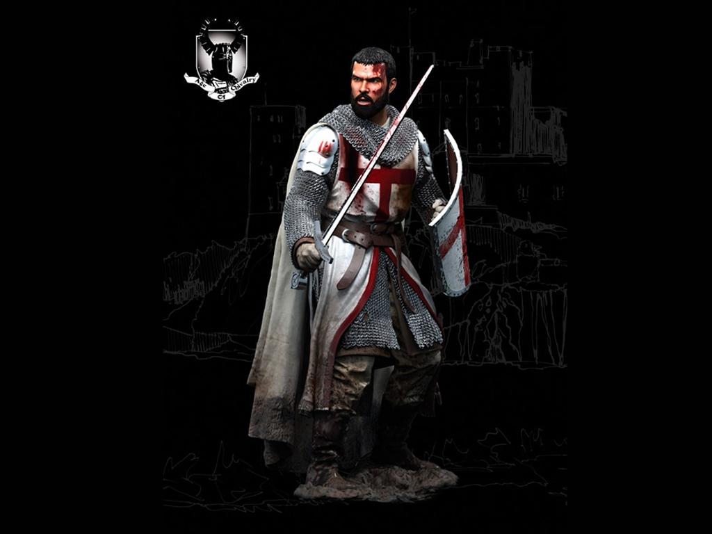 Caballero Templario, Siglo XII  (Vista 2)