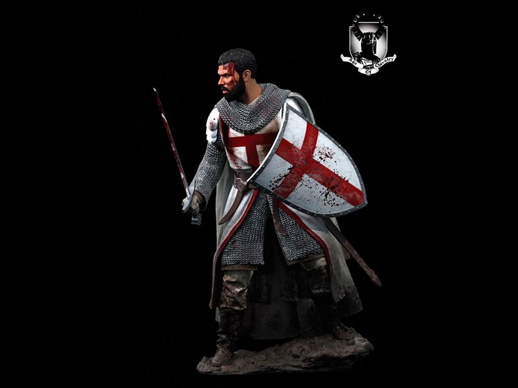 Caballero Templario, Siglo XII  (Vista 3)