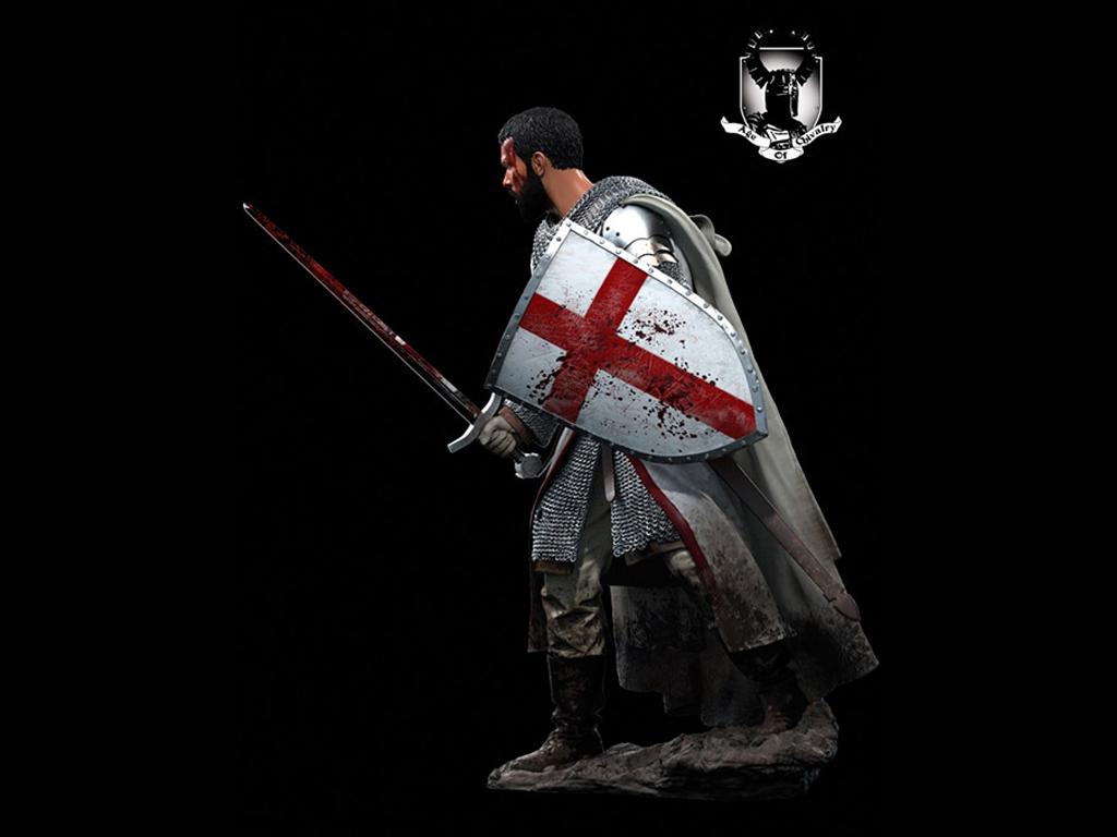 Caballero Templario, Siglo XII  (Vista 4)
