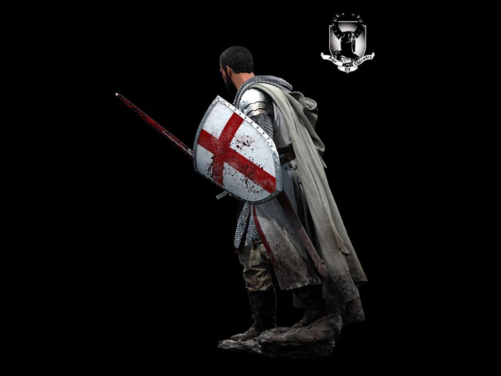 Caballero Templario, Siglo XII  (Vista 5)
