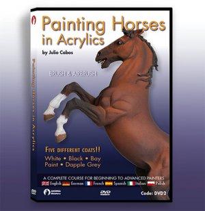 Pintura Caballos con Acrilicos  (Vista 1)