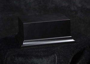 Peana de madera negra  (Vista 1)