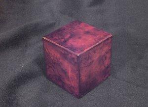 Peana de madera rojiza 46x46x50  (Vista 1)