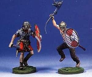 Soldado romano y bárbaro luchando(II) - Ref.: ANDR-RA014