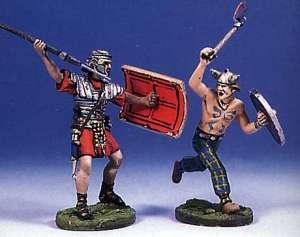 Soldado romano y bárbaro luchando(IV)  (Vista 1)
