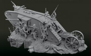 Tank Fight on The Western Front, 1916  (Vista 2)