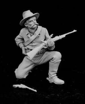 Soldado de Caballería de rodillas  (Vista 1)