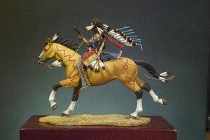 Guerrero Sioux portando carabina  (Vista 2)
