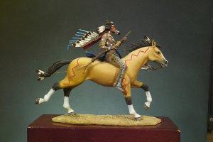 Guerrero Sioux portando carabina  (Vista 3)