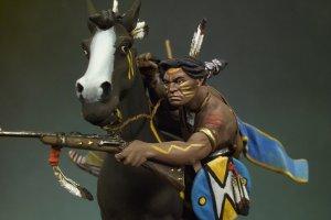 Guerrero Sioux disparando carabina - Ref.: ANDR-S4F004