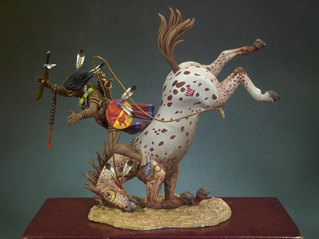 Guerrero Sioux cayendo del caballo  (Vista 1)