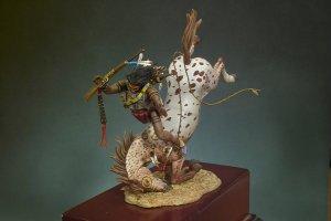 Guerrero Sioux cayendo del caballo  (Vista 2)