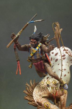 Guerrero Sioux cayendo del caballo  (Vista 4)