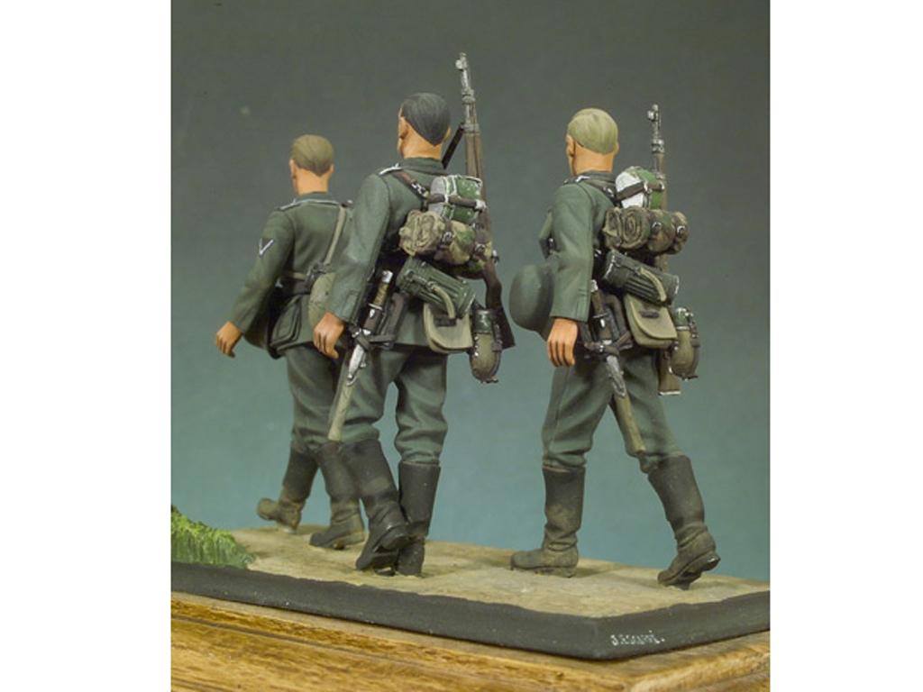 Infantería Alemana andando I  (Vista 3)