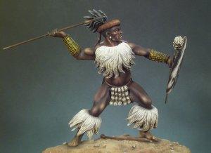 Guerrero Zulu Isandlwana, 1879  (Vista 1)