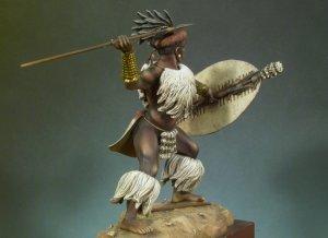 Guerrero Zulu Isandlwana, 1879  (Vista 3)