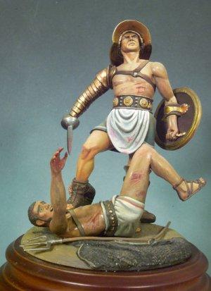 Gladiadores pulgares abajo, 100 D.C.  (Vista 1)