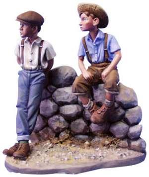 Dos niños,Años 30.  (Vista 1)