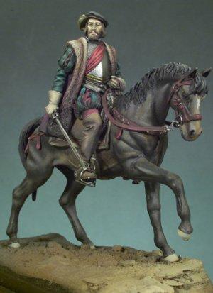 Hernán Cortes a caballo  (Vista 1)