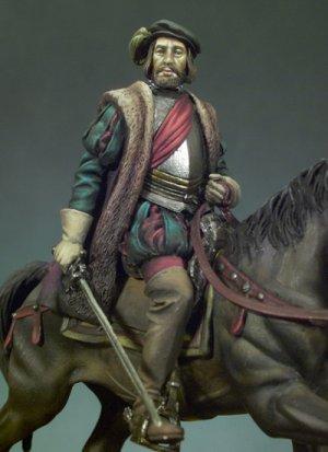 Hernán Cortes a caballo  (Vista 2)